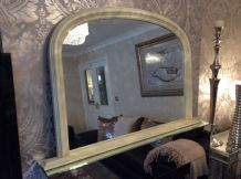 Large White Arched Top Mirror - Stunning - Save ££s - Insured in Transit
